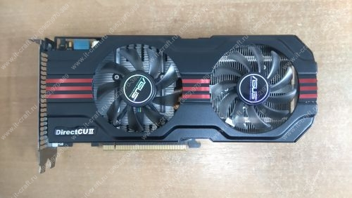 Видеоадаптер PCI-E ASUS GeForce GTX 560 Ti DC2 TOP/2DI/2GD5 900Mhz 2048Mb 4200Mhz 256bit 2xDVI Mini-HDMI