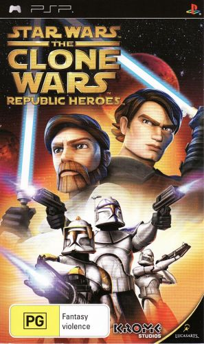 Игра для PSP Star Wars The Clone Wars Republic Heroes