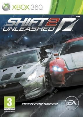 Игра для Xbox 360 Need for Speed Shift 2 Unleashed