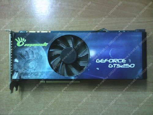 Видеоадаптер PCI-E Manli GeForce GTS 250 512Mb 256bit 2xDVI TV HDCP YPrPb