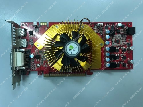 Видеоадаптер PCI-E Palit GeForce 9600 GT 1024Mb 128bit DVI HDMI DisplayPort