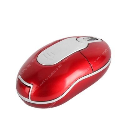 Мышь беспроводная Saitek Mini Optical Wireless Mouse Red USB