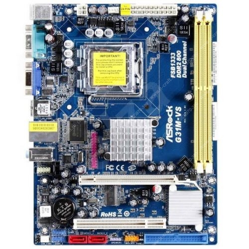 Intel Core 2 Duo E7500 2.93GHz (x2)/s775 ASRock G31M-VS/2048Mb/250Gb/Int. Intel GMA 3100/DVD-RW/400W/Case ATX