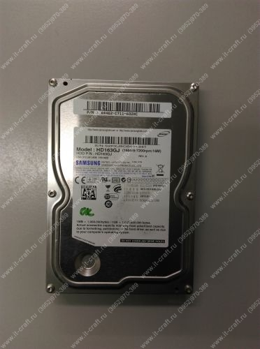 SATA 3Gb/s HDD 160Gb Samsung HD163GJ