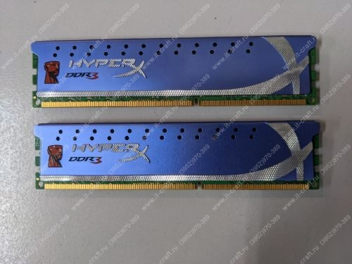 DDR3 8Gb Kingston HyperX Genesis [KHX1600C9D3K2/8G]